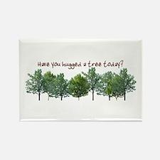 Hug A Tree - Rectangle Magnet