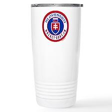 SK Slovakia/Slovensko Hockey Travel Mug