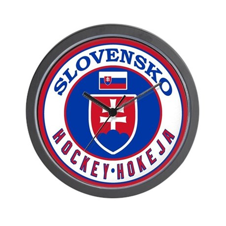 SK Slovakia/Slovensko Hockey Wall Clock