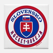 SK Slovakia/Slovensko Hockey Tile Coaster