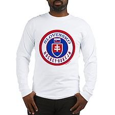 SK Slovakia/Slovensko Hockey Long Sleeve T-Shirt