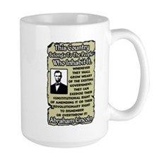 """Lincoln: Overthrow The Government"" Mug"