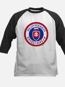 SK Slovakia/Slovensko Hockey Kids Baseball Jersey