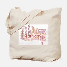 Military Wordle Tote Bag