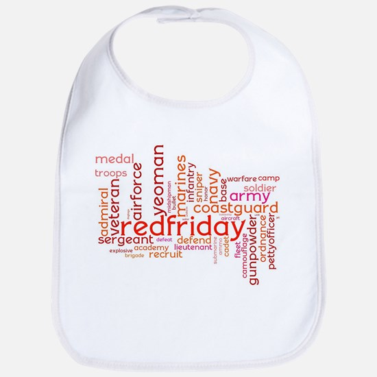Military Wordle Bib