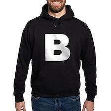 B (White Font) Hoodie