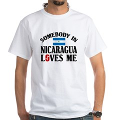 Somebody In Nicaragua White T-Shirt
