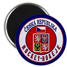 CZ Czech Rep Ice Hockey Magnet