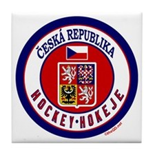 CZ Czech Rep Ice Hockey Tile Coaster
