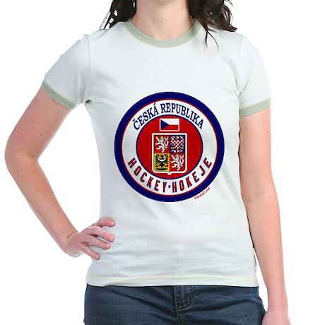 CZ Czech Rep Ice Hockey Jr. Ringer T-Shirt