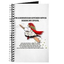 Cute Kitchen witch Journal