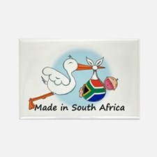 Stork Baby South Africa Rectangle Magnet