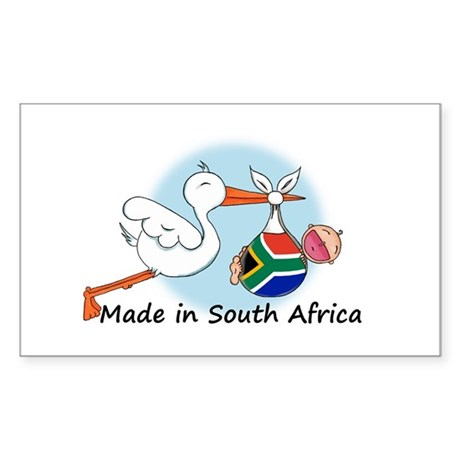 Stork Baby South Africa Rectangle Sticker