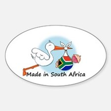 Stork Baby South Africa Oval Decal