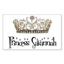 Princess Savannah Rectangle Decal