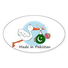 Stork Baby Pakistan Oval Decal