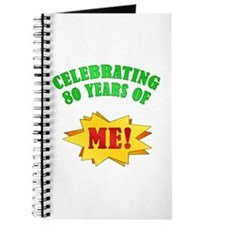 Funny Attitude 80th Birthday Journal