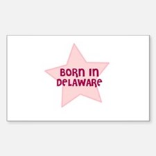 Born In Delaware Rectangle Decal