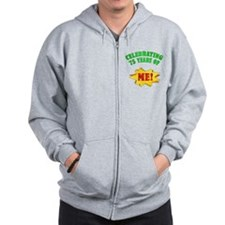 Funny Attitude 75th Birthday Zip Hoodie