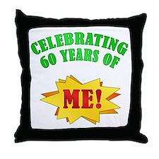 Funny Attitude 60th Birthday Throw Pillow
