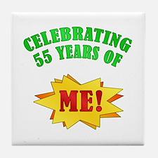 Funny Attitude 55th Birthday Tile Coaster
