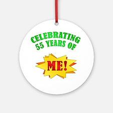 Funny Attitude 55th Birthday Ornament (Round)
