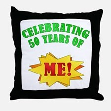 Funny Attitude 50th Birthday Throw Pillow
