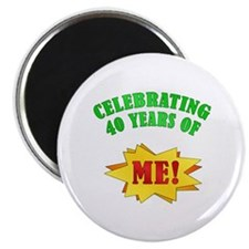 """Funny Attitude 40th Birthday 2.25"""" Magnet (10 pack"""