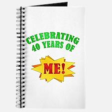 Funny Attitude 40th Birthday Journal
