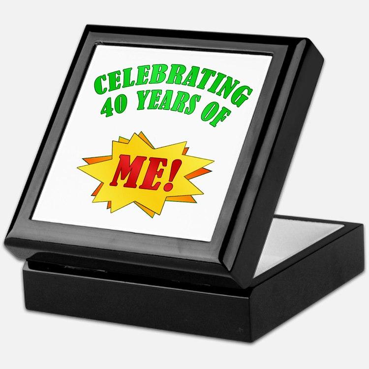 Funny Attitude 40th Birthday Keepsake Box