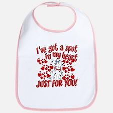 Dalmatian Valentine Bib
