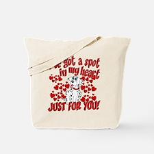 Dalmatian Valentine Tote Bag