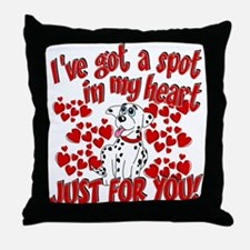 Dalmatian Valentine Throw Pillow