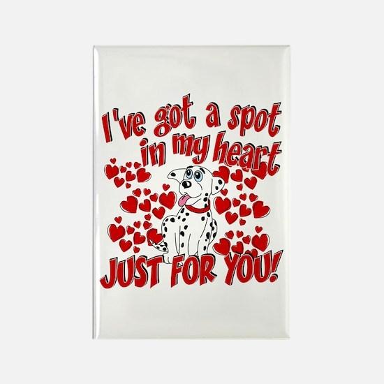 Dalmatian Valentine Rectangle Magnet