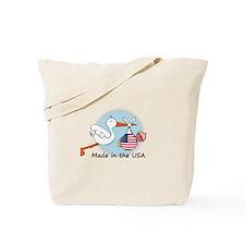 Stork Baby USA Tote Bag