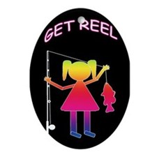 GET REEL GIRL Oval Ornament