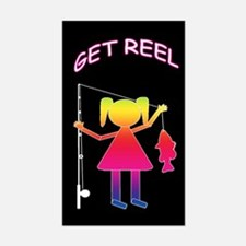 GET REEL GIRL Rectangle Decal