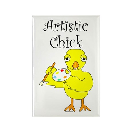 Artistic Chick Rectangle Magnet (100 pack)