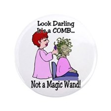 "Look Darling 3.5"" Button"