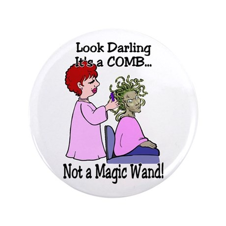"""Look Darling 3.5"""" Button"""