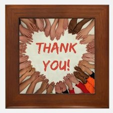 Thank You Heart of Hands Framed Tile