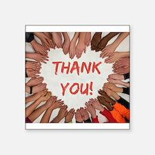 Thank You Heart of Hands Sticker