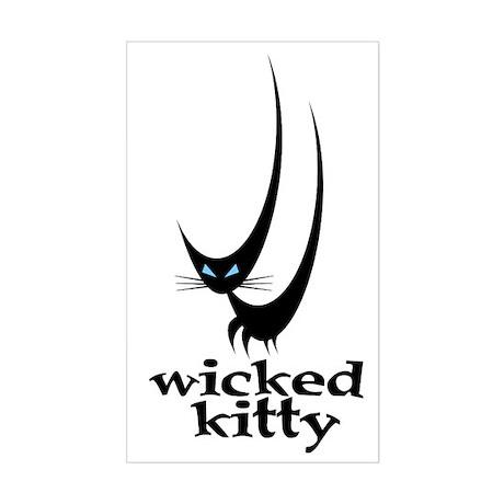 Wicked Kitty Rectangle Sticker