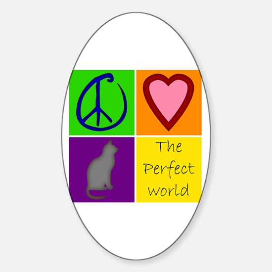 Perfect World: Cats - Oval Decal