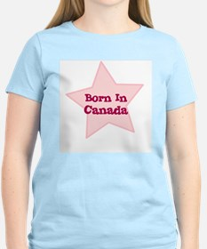 Born In Canada Women's Pink T-Shirt
