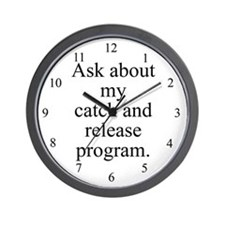 Catch and Release Wall Clock