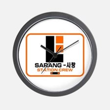 Sarang Station Crew Wall Clock