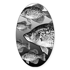 LOTSA CRAPPIE Oval Decal