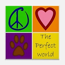 Perfect World: Dogs - Tile Coaster