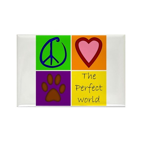 Perfect World: Dogs - Rectangle Magnet (100 pack)